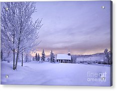 Acrylic Print featuring the photograph Snow Day by Kristal Kraft