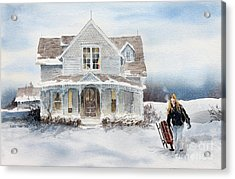 Snow Day Acrylic Print by Monte Toon