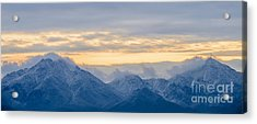 Snow Dusted Mcdowell Mountains Acrylic Print