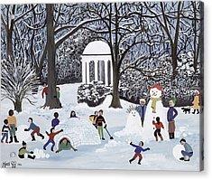 Snow Follies Acrylic Print by Judy Joel