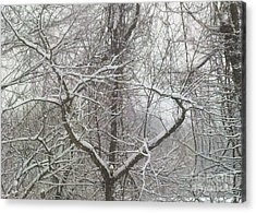 Snow Has A Heart Acrylic Print