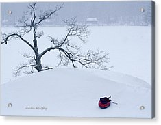 Snow Hill Ride Acrylic Print
