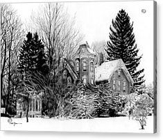 Da196 Snow House By Daniel Adams Acrylic Print