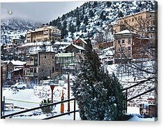 Snow In Jerome Arizona Acrylic Print