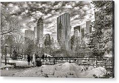 Snow In N.y. Acrylic Print