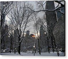 Snow In The City Acrylic Print