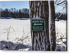 Snow In The Meadow Acrylic Print by Andrew Pacheco