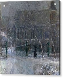 Snow In The Park Acrylic Print by Malcolm Mason