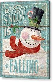 Snow Is Falling Acrylic Print