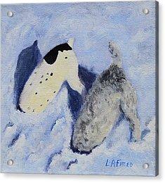 Snow Jacks Acrylic Print by Linda Freed