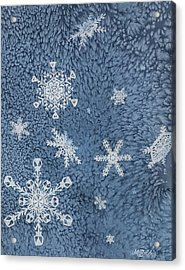 Acrylic Print featuring the painting Snow Jewels by Margaret Bobb