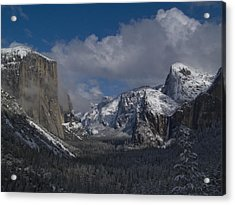 Snow Kissed Valley Acrylic Print by Bill Gallagher