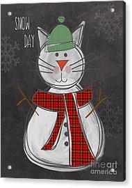 Snow Kitten Acrylic Print
