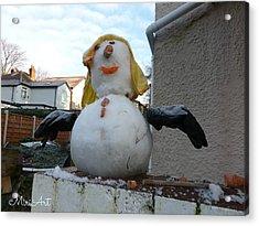 Snow Lady Acrylic Print