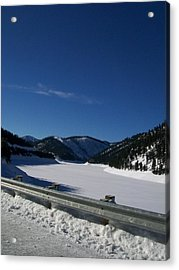 Snow Lake Acrylic Print