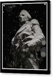 Snow Mask By Darryl Kravitz Acrylic Print by Darryl  Kravitz