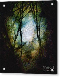 Snow Moon Embrace Acrylic Print by RC deWinter