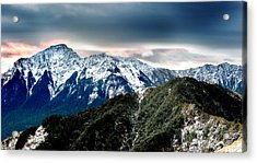 Acrylic Print featuring the photograph Snow Mountain by Yew Kwang
