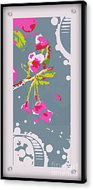 Snow On Cherry Blossom Acrylic Print by Wendy Wiese