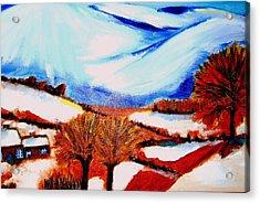 Snow On Snow... Acrylic Print