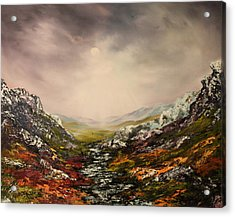 Snow On The Cairngorms Acrylic Print