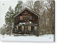 Snow On The General Store Acrylic Print by Benanne Stiens