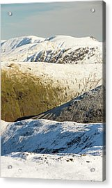 Snow On The High Street Fells Acrylic Print by Ashley Cooper