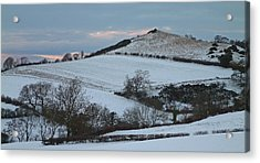 Snow On The Hill Acrylic Print by John Topman