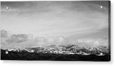 Snow On The Tehachapis Acrylic Print by Rich Collins