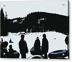 Acrylic Print featuring the photograph Snow Park Fun  by Mindy Bench