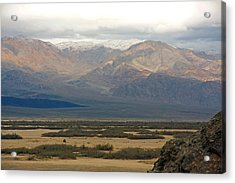 Acrylic Print featuring the photograph Snow Peaks by Stuart Litoff
