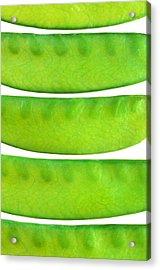 Snow Peas Acrylic Print by Jim Hughes