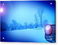 Snow Plow At Thirty Two Below Acrylic Print by The Stone Age