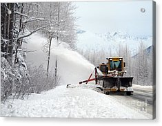 Snow Plow Acrylic Print by Mark Newman
