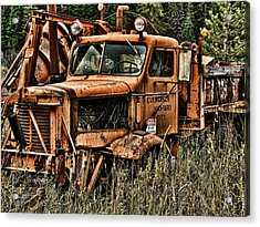Snow Plow Acrylic Print by Ron Roberts