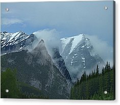Snow Plumes Acrylic Print by George Cousins