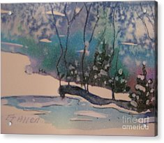 Snow Reflections Acrylic Print by Gretchen Allen