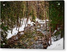 Snow River Acrylic Print