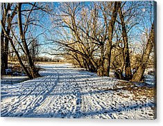 Snow Road Acrylic Print by Baywest Imaging