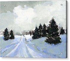 Snow Scene Acrylic Print by J Reifsnyder