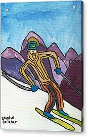 Snow Skier Acrylic Print