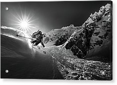 Snow Splash Over The Edge Acrylic Print