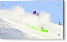 Snow Spray Acrylic Print by Theresa Tahara