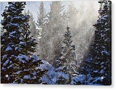 Snow Squalls Acrylic Print by Jim Garrison