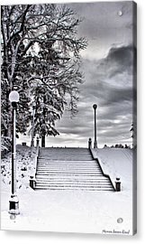 Snow Stairs Acrylic Print by Steven Reed