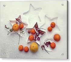 Snow Still Life Acrylic Print