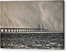 Snow Storm Out At Sea Acrylic Print by EXparte SE
