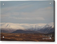 Snow Topped Mountains Acrylic Print