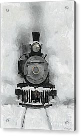 Snow Train Acrylic Print by Dragica  Micki Fortuna