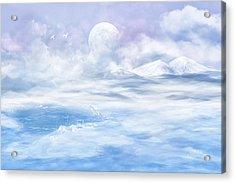 Snow Valley Acrylic Print by Nika Lerman